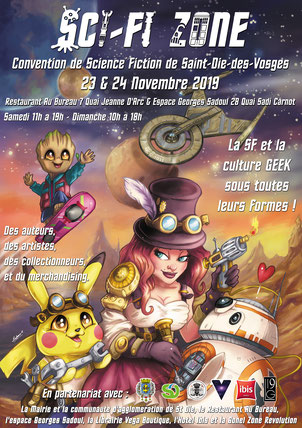 Convention Sci Fi Zone 2019 (Saint Dié, 23 et 24 novembre 2019) Sci-Fi Zone 2019